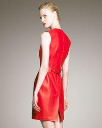 Saint Laurent   Red Leather Dress   Lyst