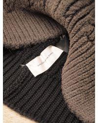Balenciaga - Brown Mens Wool Cable Knit Beanie for Men - Lyst