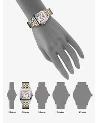 Cartier - Metallic Santos Demoiselle Stainless Steel Watch On Stainless Steel & 18k Yellow Gold Bracelet, Small - Lyst