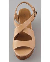 Coclico | Brown Morphos Wishbone Platform Sandals | Lyst