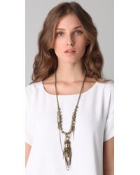 DANNIJO - Metallic Falling Whistles X Brass Fringe Necklace - Lyst