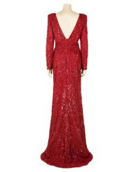 Eastland | Red Padded Shoulder Sequin Gown | Lyst