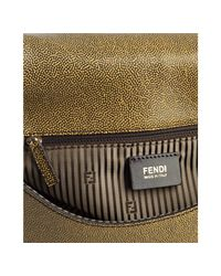 Fendi - Green Chantilly Leather and Stingray Anna Shoulder Bag - Lyst