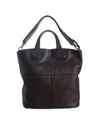 Givenchy | Black Marble Finish Lambskin Nightingale Shopper | Lyst