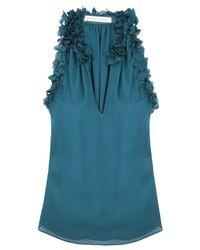 Graham & Spencer | Blue Petal Georgette Top | Lyst