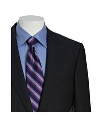 Gucci - Blue Navy and Red Pinstripe Wool 2-button Suit with Flat Front Pants for Men - Lyst