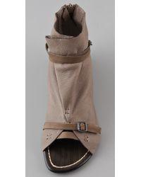 Joe's Jeans | Brown Hanover Open Toe Booties | Lyst