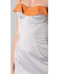 Just Cavalli - Gray Bustier Dress - Lyst