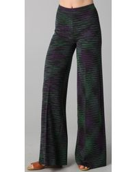M Missoni | Black Space Dye Wide Leg Pants | Lyst