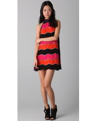 M Missoni - Pink Bold Wave Dress - Lyst