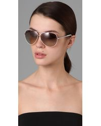 Marc By Marc Jacobs - White Oversized Aviator Sunglasses - Lyst