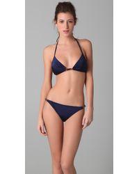MILLY | Blue Positano Shimmer Bikini Top | Lyst