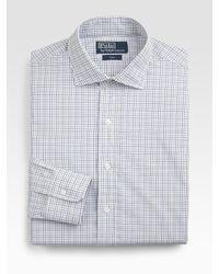 Polo Ralph Lauren - White Custom-fit Checked Estate Dress Shirt for Men - Lyst