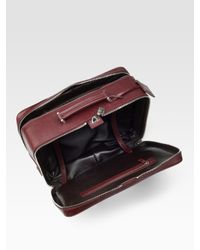 Prada - Red Leather Suitcase for Men - Lyst