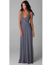 Rachel Pally | Blue Stripe Cutout Dress | Lyst