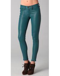 Rag & Bone | Blue The Skinny Leather Pants | Lyst