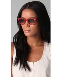 Ray-Ban | Red Wayfarer Sunglasses | Lyst