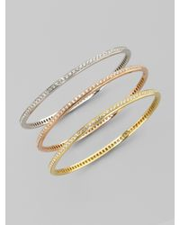 Roberto Coin - Pink Diamond & 18k Rose Gold Bracelet - Lyst