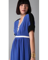 Sachin & Babi | Blue Brady Colorblock Maxi Dress | Lyst
