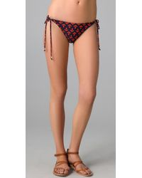 Shoshanna - Black Anchors Away Bead String Bikini Bottoms - Lyst