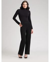 St. John | Black Caviar Collection Santana Knit Pants | Lyst