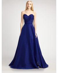 THEIA | Blue Silk Organza Ball Gown | Lyst