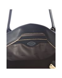Tod's - Black Leather D-styling Manici New Grand Tote - Lyst