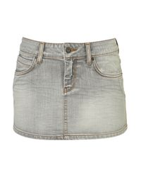TOPSHOP | Gray Lauren Denim Mini Skirt | Lyst