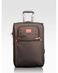 Tumi | Brown Alpha International Zippered Expandable Carry-On for Men | Lyst