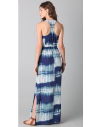 Twelfth Street Cynthia Vincent | Blue Racer Back Tie Dye Maxi Dress | Lyst