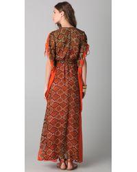 Twelfth Street Cynthia Vincent | Multicolor Pleated Maxi Caftan Dress | Lyst