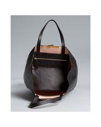 Céline - Black Calfskin Cabas Shopping Tote - Lyst