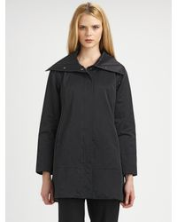 Eileen Fisher - Black Cotton/nylon Jacket - Lyst