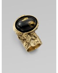 Saint Laurent - Metallic Arty Ovale Ring - Lyst