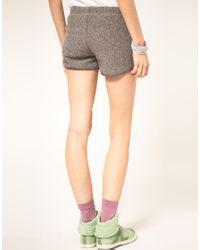 American Apparel | Gray Gym Shorts | Lyst