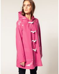 ASOS Collection | Pink Asos Plastic Rainmac with Rope Tie Detail | Lyst