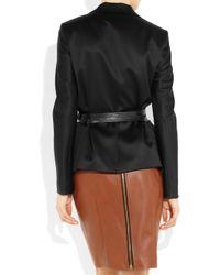 Reed Krakoff | Black Belted Wool Sateen Blazer | Lyst
