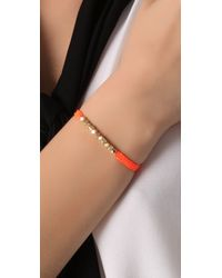 Shashi - Orange Neon Nugget Bracelet - Lyst