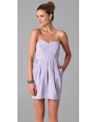 Shoshanna - Purple Jane Strapless Dress - Lyst