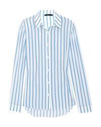 The Row | Blue Shore Striped Cotton Shirt | Lyst