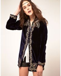 Winter Kate | Black Sweet Sargeant Velvet Embroidered Jacket | Lyst