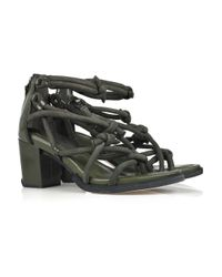 Alexander Wang | Green Tilda Knotted Suede Sandals | Lyst