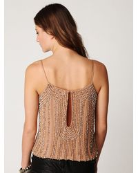 Free People | Natural Beaded Cami | Lyst