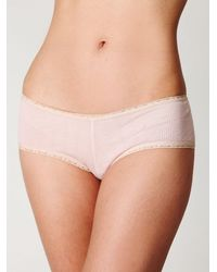 Free People | Pink Clover Pointelle Boyshort | Lyst