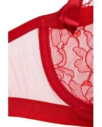 La Perla - Red Must Ingenue Lace Balconette Bra - Lyst