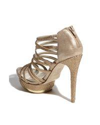 Pelle Moda | Gold Faine2 Platform Dress Sandals | Lyst