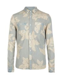 AllSaints | Blue Rockpile L/s Shirt for Men | Lyst
