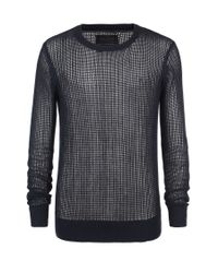 AllSaints | Black Gridd Crew for Men | Lyst