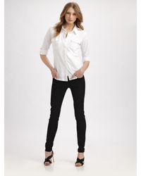 Eileen Fisher | White Organic Cotton Button-down Shirt | Lyst
