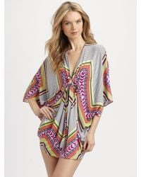 Mara Hoffman - White Mini Poncho Dress - Lyst